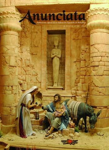 imagen del belenismo 2014 y premio en la portada de Anunciata